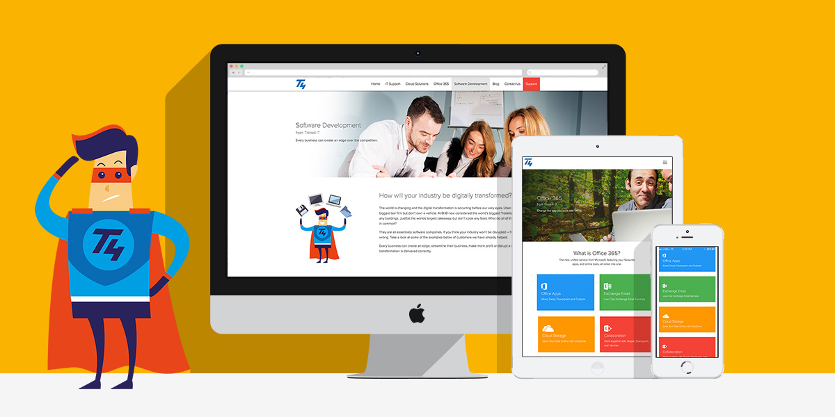 Think 4 Website Project with Made By Factory. A Manchester Digital Agency
