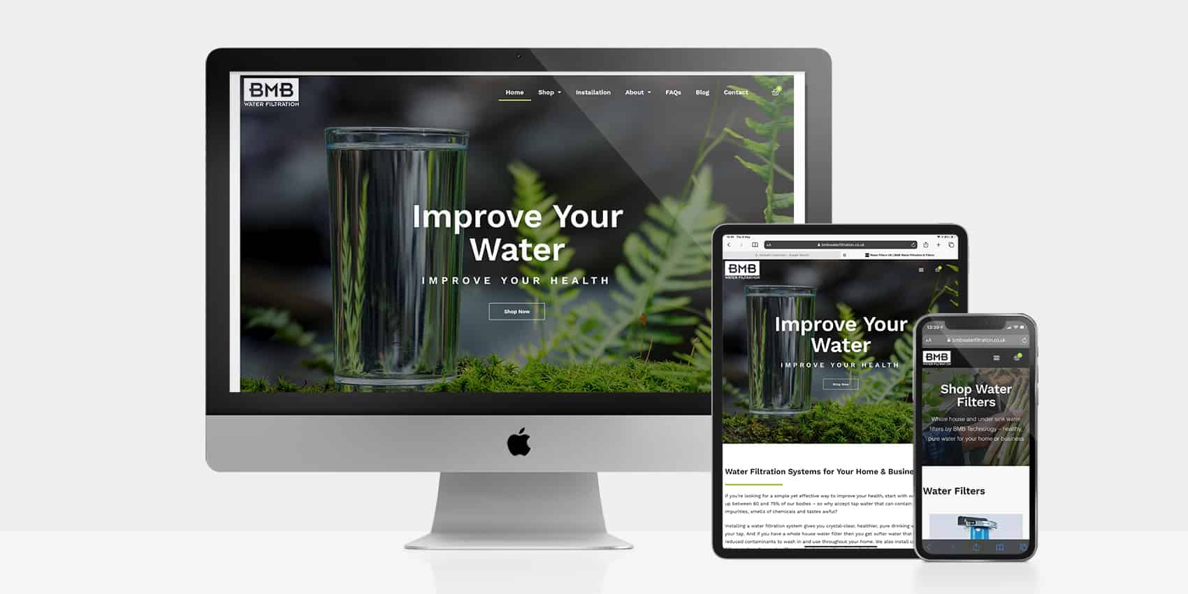 BMB had no web presence as a newly registered domain, so our brief was to create a functional e-commerce website with clean & fresh visual appeal.